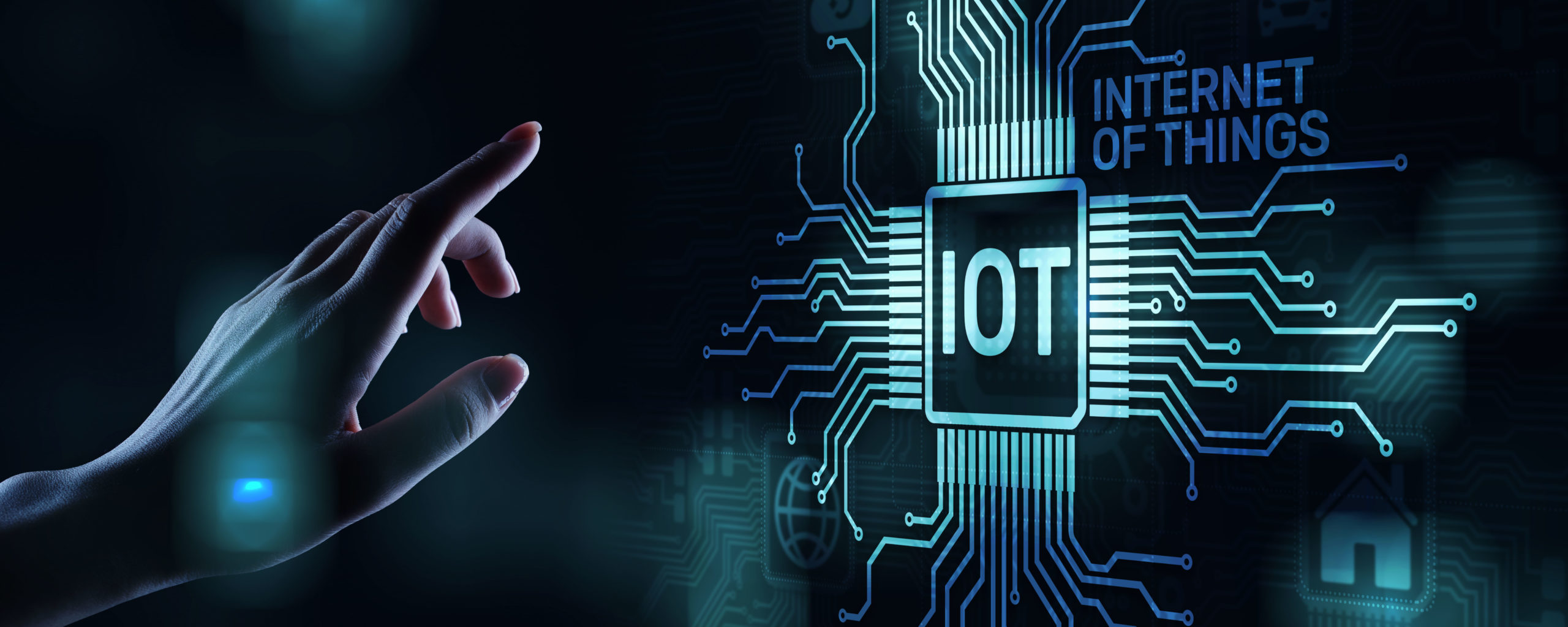 IOT Internet of things Digital transformation Modern Technology concept on virtual screen